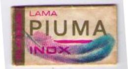 LAMETTA DA BARBA - PIUMA  INOX  - 1970 RR (RARA) - Lamette Da Barba