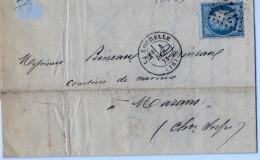 Lettre De La Rochelle à Marans - 1849-1876: Période Classique