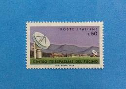 1968 ITALIA FRANCOBOLLO NUOVO STAMP NEW MNH** - TELECOMUNICAZIONI SPAZIALI DEL FUCINO - - 1961-70:  Nuovi