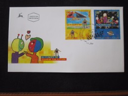 1989 HOLY LAND FUTURE COSMOS UFO FAMILY FIRST DAY ISSUE POST OFFICE AIR MAIL STAMP ENVELOPE ISRAEL JUDAICA JERUSALEM - Israel
