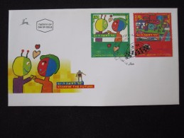 1989 HOLY LAND FUTURE COSMOS UFO FAMILY FIRST DAY ISSUE POST OFFICE AIR MAIL STAMP ENVELOPE ISRAEL JUDAICA JERUSALEM - Israël