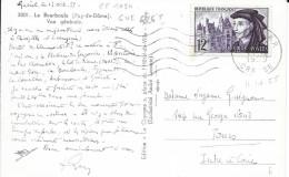 TIMBRE N° 1034  FRANCE - TARIF DU  6.1.49 / 30.6.57 S/CP -   SEUL SUR CP   -   FLAMME N° GUE 626 S - 1955 - Posttarife