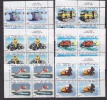 Ross Dependency 2000 Transport On The Ice 6v Bl Of 4  ** Mnh (33029) - Ross Dependency (Nieuw-Zeeland)