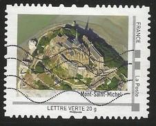 Timbre Personnalisé Collector Oblitéré Mont St Michel - Collectors