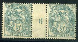 FRANCE ( MILLESIME ) : Y&T  N° 111  MILLESIME 1906, TIMBRES  NEUFS/MH  AVEC  TRACE  DE  CHARNIERE ,  A  VOIR . - Millésimes