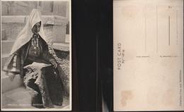 7852) PALESTINE WOMAN FROM BETHLEHEM NON VIAGGIATA 1930 CIRCA CRAQUELET SUL LUCIDO - Palestina