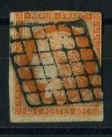 FRANCE ( POSTE ) : Y&T  N°  5  EN  PAIRE  TIMBRE  BIEN  OBLITERE , DECHIRE  COTE  GAUCHE ,   A  VOIR .