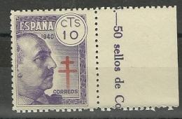 España 1940 Edifil  936  ** Mnh GENERAL FRANCO - 1931-Today: 2nd Rep - ... Juan Carlos I