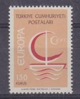 Europa Cept 1966 Turkey 130K (wrong Colour) 1v ** Mnh (33036) Promotion - 1966