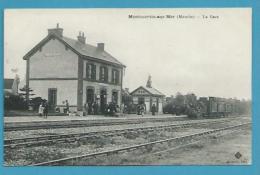 CPA - Chemin De Fer Arrivée Du Train En Grae De MONTMARTIN SUR MER 50 - Montmartin Sur Mer