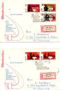 RDA. N°1009-13 De 1967 Sur 2 Enveloppes 1er Jour Ayant Circulé. Lénine/Révolution Socialiste D'Octobre.