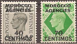 GREAT BRITAIN (MOROCCO AGENCIES)..1940..Michel # 156-157...MLH...MiCV - 38 Euro. - Morocco Agencies / Tangier (...-1958)