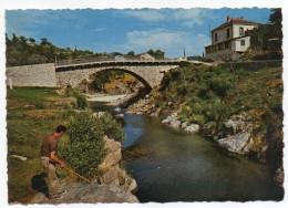 LAMASTRE--Le Pont De Retourtour (animé,pêcheur ),cpsm 15 X 10 N° 49850 éd Cellard - Lamastre