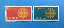 1970 ITALIA FRANCOBOLLI NUOVI STAMPS NEW MNH** - EUROPA - - 1961-70:  Nuovi