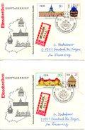 RDA. N°1075-8 De 1968 Sur 2 Enveloppes 1er Jour Ayant Circulé. Château.