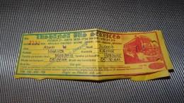 Bus Ticket From TANZANIA (Mwanza - Kigoma) - Bus Fahrkarte - Transportation