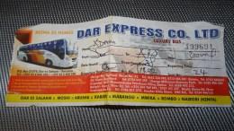 Bus Ticket From TANZANIA (Dar Es Salaam - Arusha) - Bus Fahrkarte - Transportation