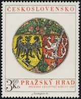 Czechoslovakia / Stamps (1975) 2174: Prague Castle - Housing Royal Crown (1347)