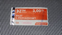 Bus Ticket From Rzeszów Poland - Fahrkarte - Transportation