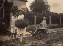 Photo Originale Jeu & Jouet - Charrette D'enfants Habituellement Tirée Par Un Chien, Mais Tirée Par Leur Mère Vers 1920/ - Photos