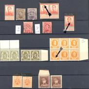 Belgique - 1912 -> 1931 - Lot De Timbres Comportant Des Variétés - ** Et Obl. Détails Dans La Description - Variétés (Catalogue COB)