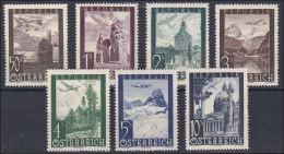 Österreich 1947: ANK 820- 826 ** Flugpostausgabe, ANK 14.- € - 1945-.... 2. Republik