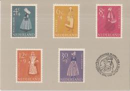 Nederland - Zomerzegels 1958 - Klederdrachten - Ongebruikt - Postzegels (afbeeldingen)