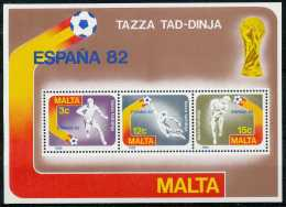 Malte 1982, Coupe Du Monde De Football En Espagne, Le Bloc. - Calcio