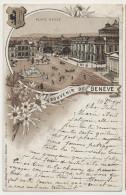 Souvenir De Geneve Litho  Place Neuve  Edit Henri Schlumpf Winterthur No 336 - GE Geneva