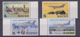 Nauru 1980 10th Anniversary Air Nauru 4v ** Mnh (33037) - Nauru