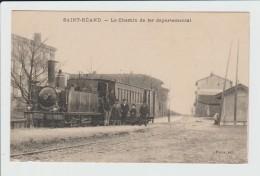 SAINT HEAND - LOIRE - LE CHEMIN DE FER DEPARTEMENTAL - TRAIN EN GARE - France