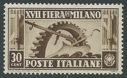 1936 REGNO FIERA DI MILANO 30 CENT MNH ** - CZ29-7 - Ongebruikt