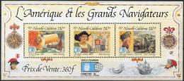 "Nle-Caledonie Bloc YT 14 BF "" Grands Navigateurs "" 1992 Neuf** - Hojas Y Bloques"