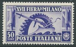 1936 REGNO FIERA DI MILANO 50 CENT MNH ** - CZ29-9 - Ongebruikt