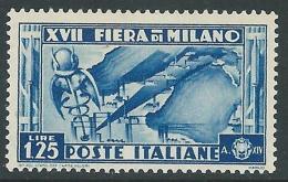 1936 REGNO FIERA DI MILANO 1,25 LIRE MNH ** - CZ29-8 - Ongebruikt
