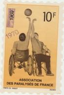 Timbre  Association Des Paralyses De France 1969 1970