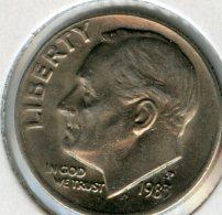 Etats-Unis USA 10 Cents Dime 1985 P KM 195a - Émissions Fédérales