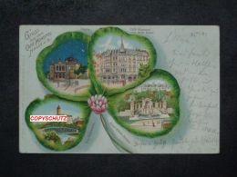 HALLE Saale - Kleeblatt Litho - Z. B. Café MONOPOL - 1901 - Allemagne