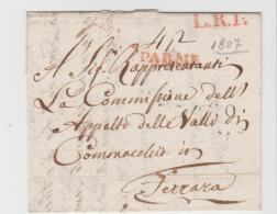 IVO111 / Parma 1807 Nach Ferrera Mit Konplettem  Textinhalt. - Parma