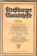 Revue Ancienne 1937 Strasburger Monatsheste Décembre  1937 - Revues & Journaux