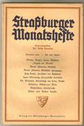 Revue Ancienne 1938 Strasburger Monatsheste  Aout 1938 - Revues & Journaux