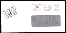France: Window Cover, 1983, Meter Cancel, Bank Union Paris, Union De Banques (traces Of Use) - Frankrijk
