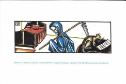 """CARTE POSTALE """"DEVINETTE"""" MORT RAT LIT  AUTEUR ROMAN - Cartes Postales"""