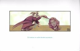 """CARTE POSTALE """"DEVINETTE"""" TETE FEMME CLOWN  AUTEUR MIROIR - Cartes Postales"""