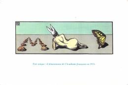 """CARTE POSTALE """"DEVINETTE""""  CAILLOUX  DOS NU BONNET  D'ANE PAPILLON ACADÉMICIEN DEMISSIONNAIRE - Cartes Postales"""