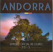EURO COINS YEAR 2015, COMPLETE SET UNCIRCULATED, ORIGINAL PACKAGE, TIRAGE 40.000 EX.ONLY - Andorra