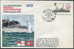 1974 GB FFPS HMS RAWALPINDI P&O Scharnhorst Gneisenau Iceland Faroes Gap Ship Cover - 1952-.... (Elizabeth II)