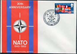 1969 GB NATO BFPS Cover - 1952-.... (Elizabeth II)