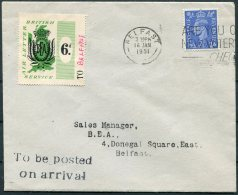1951 GB Belfast BEA, British Air Letter Service Flight Cover - 1902-1951 (Kings)