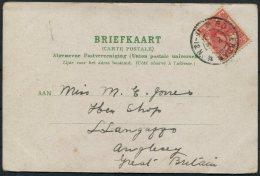 Netherlands Utrecht Jagerskade Postcard, Rotterdam - Anglesey, Wales - Period 1891-1948 (Wilhelmina)